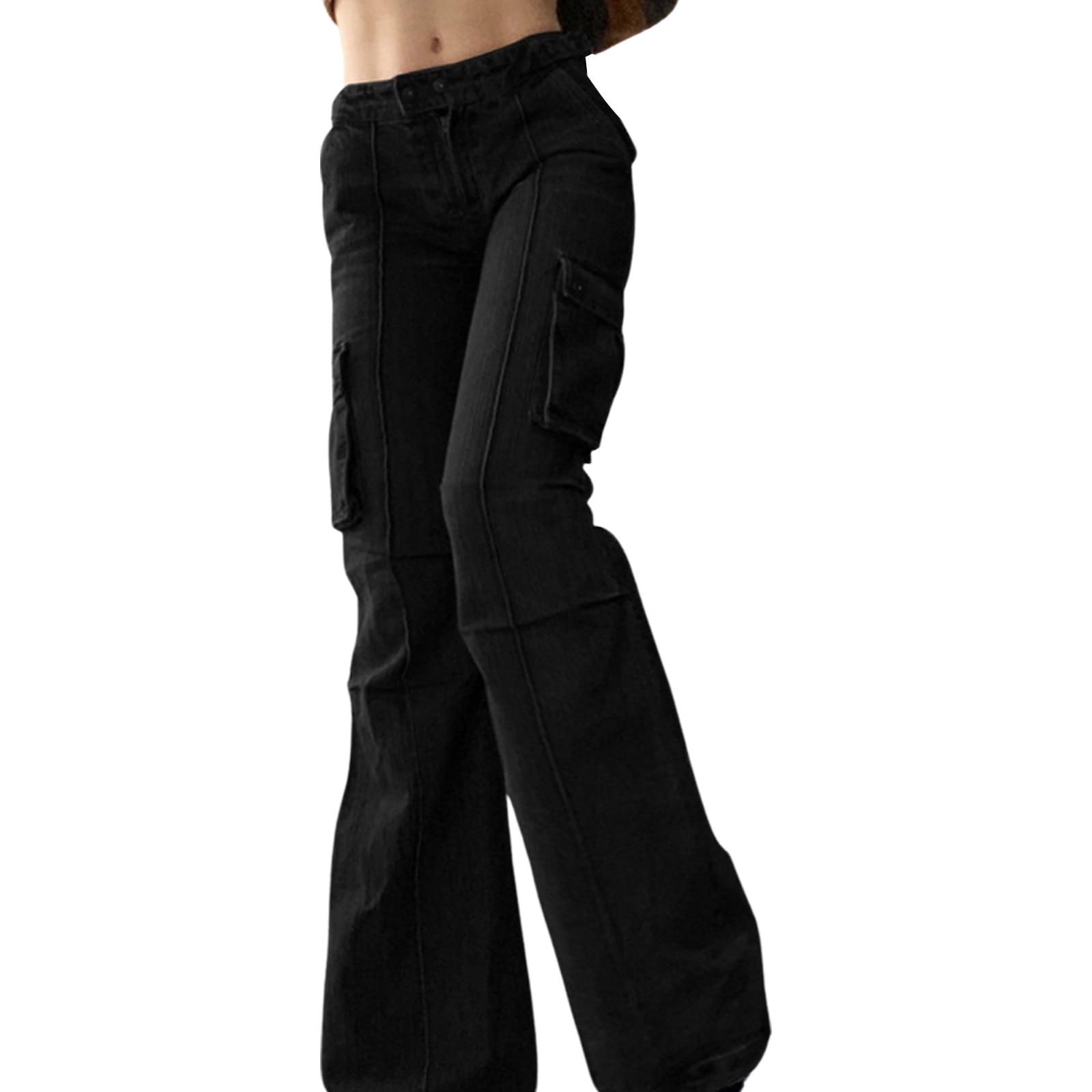 Hirigin 2021, женские корейские джинсы-трубы, повседневные модные однотонные джинсовые брюки с высокой талией и строчкой