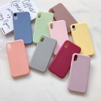 Чехол карамельного цвета для iPhone 11 12 Pro XR X XS Max 7 8 6s 6 Plus 5S 5 SE 2020, силиконовый чехол, чехол для Apple iPhone 11 12 Pro Max