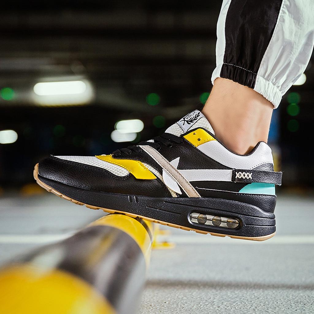 2019 Venta caliente zapatos de uso duro para hombre moda antideslizante resistente al desgaste malla de aire transpirable ligero zapatillas de deporte mocasines Homme