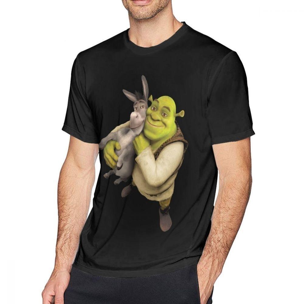 Shrek T Shirt Shrek And Donkey T-Shirt Fashion Man Tee Shirt Awesome Cotton Printed Short Sleeve Tshirt