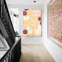 Nordique doux citron tranches fruits frais affiche impression nordique mur Art photo pour salon decor a la maison sans cadre toile peinture