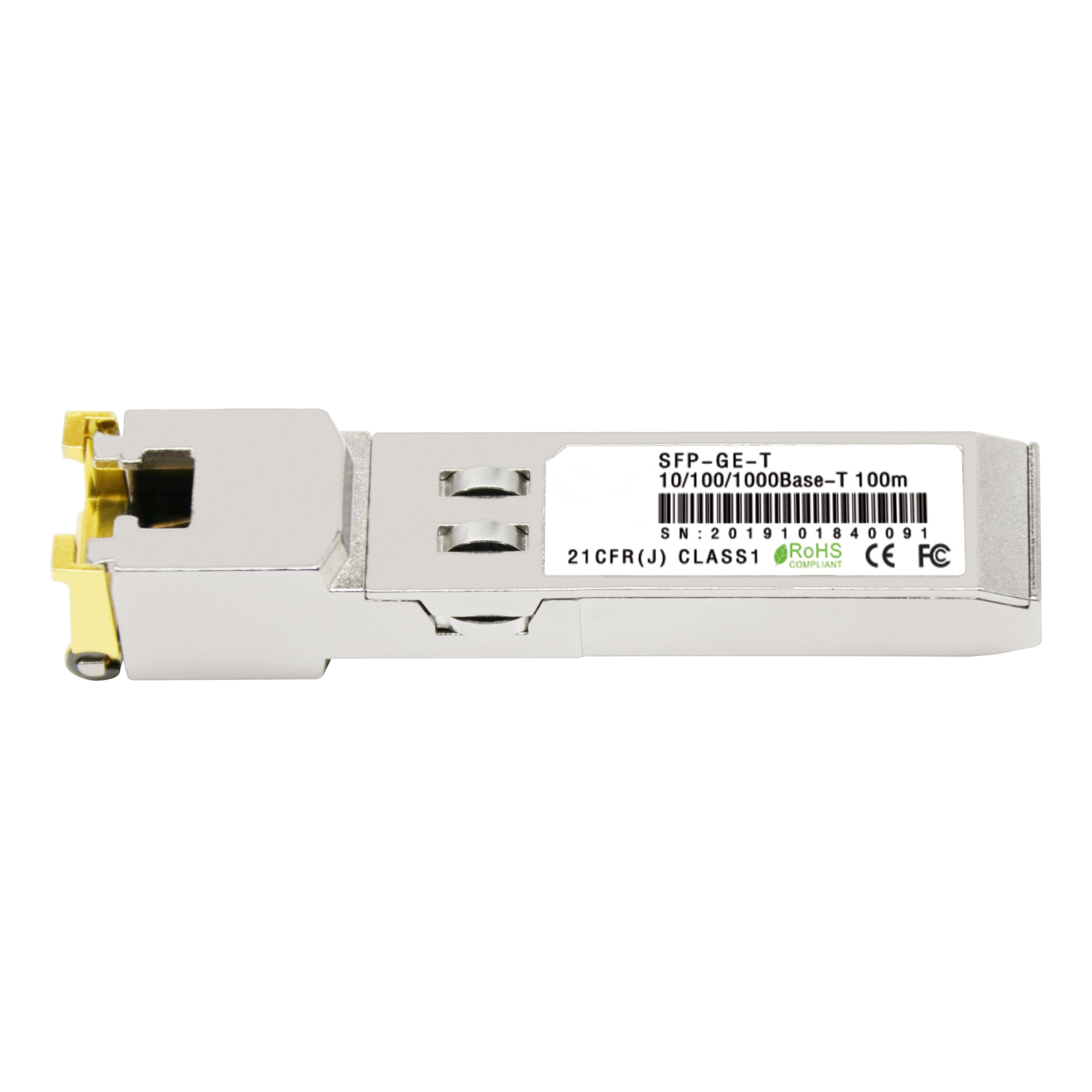 Gigabit RJ45 módulo SFP 1000Mbps SFP cobre RJ45 transceptor SFP módulo Compatible con Cisco/Mikrotik Gigabit Ethernet
