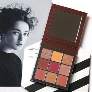 9 Colors Dream Pearlescent Matte Shimmer Eyeshadow Pallete Waterproof Pressed Powder Glitter Eye Shadow Makeup