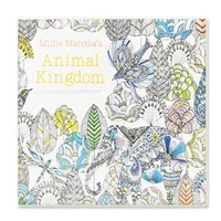 24 pages animal kingdom coloring book for adult child relieve stress kill time painting drawing art book graffiti colouring book