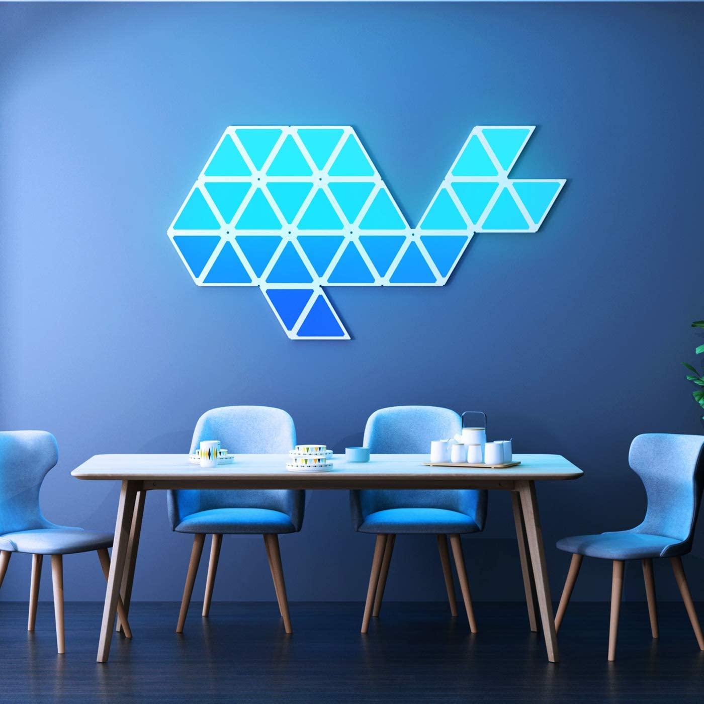 Smart LED Wall Light Tiles Light Panels WiFi Lighting Lamp Rhythm Edition Smarter Kit for Office Home Decoration