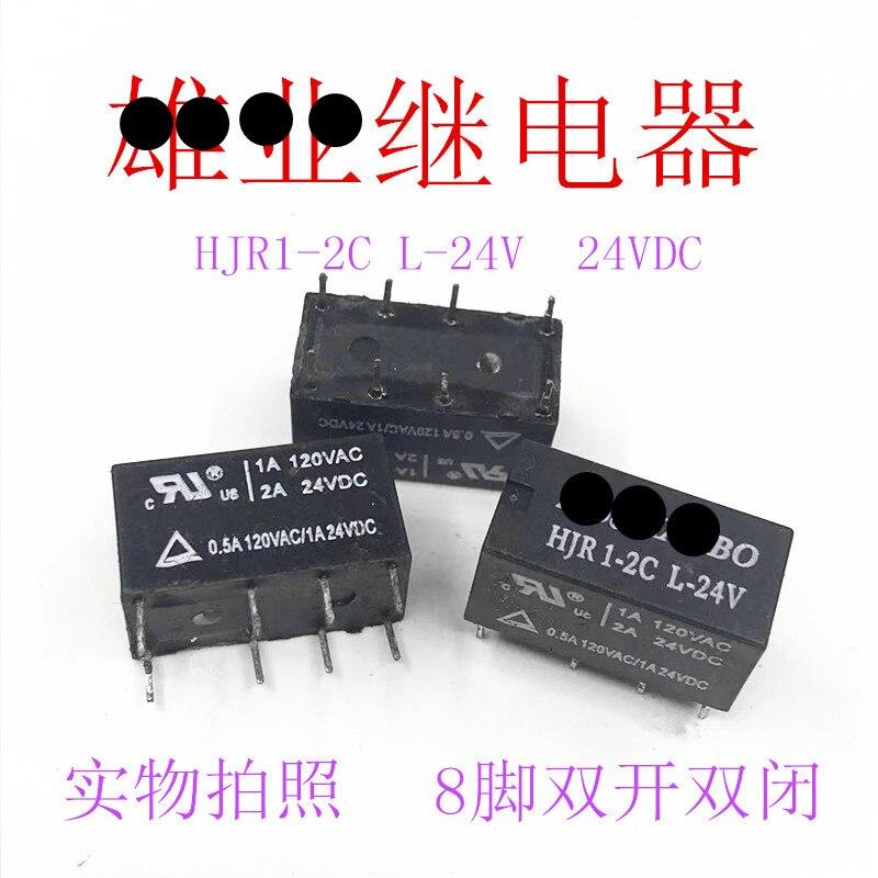 (10 peça) HJR1-2C-L-24V HJR1-2C-L-DC24V HJR1-2CL-24V 8 PINOS 2A 24VDC Relé de Sinal Novo