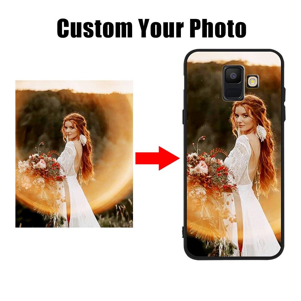 Carcasa de teléfono con foto personalizada de silicona suave con logotipo DIY para Samsung A20, A30, A40, A50, A70, A90, A5, A6, A7, A8, A9, A10, J4, J5, J6, J7 y J8 Plus