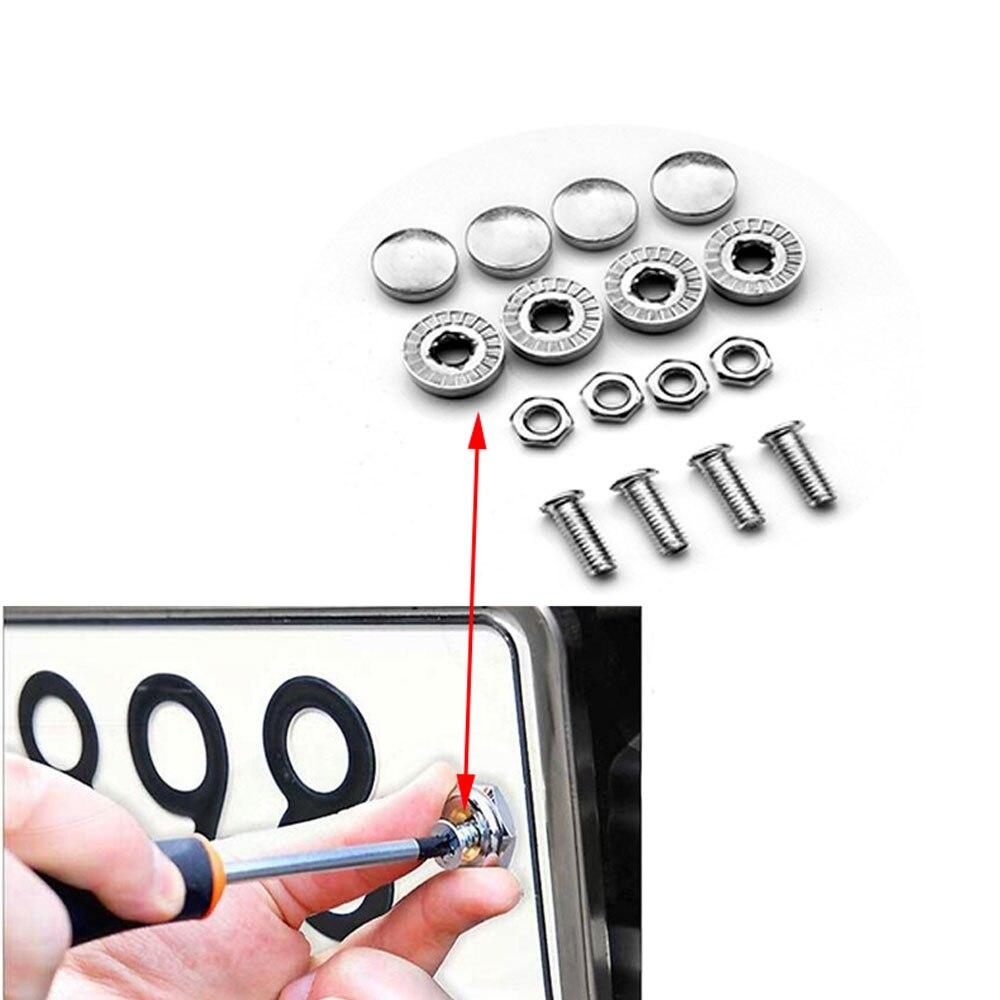 Tornillos cromados para placa de matrícula de coche 16X para Fiat 500 Kia Rio K2 Ceed Sorento Skoda Octavia A5 A7 Rapid Fabia Yeti Superb
