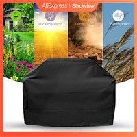 1 piecebarbecue cover grill black cover dustproof and rainproof carbon gas barbecue grill outdoor camping barbecue accessories