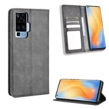 For VIVO X50 Pro Case Premium Leather Wallet Leather Flip Case For VIVO X 50 Pro X50 X50Pro Back Cov