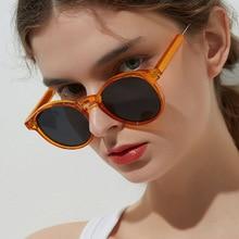 Retro Trendy Round Sunglasses Women Men 2020 Brand Design Clear Steampunk Sun Glasses Outdoor for Fe