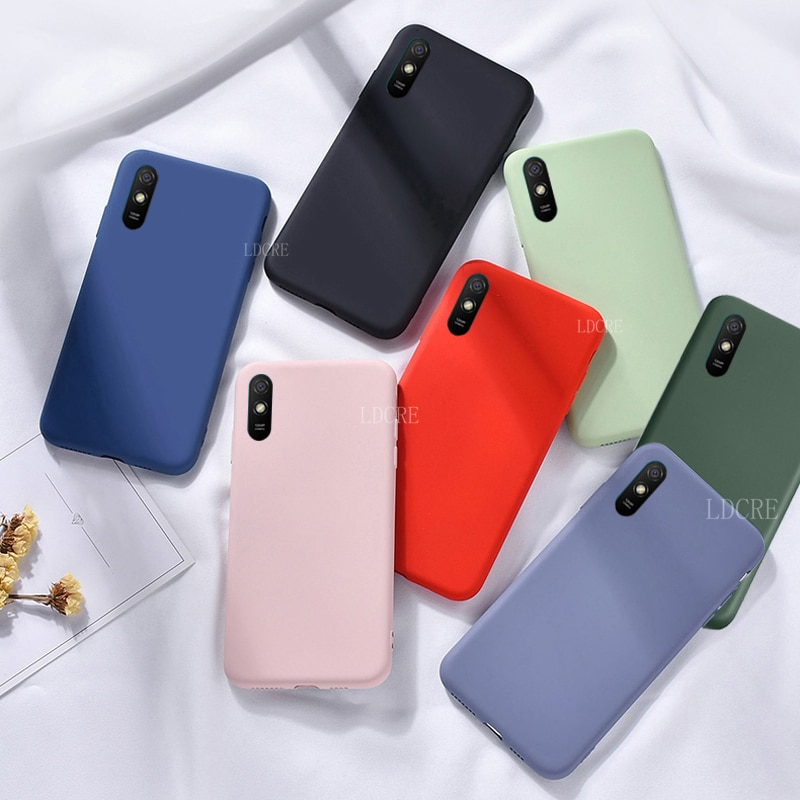 Para cubrir Xiaomi Redmi 9A caso para Redmi 9 C Capas parachoques caso suave para Mi nota 10 Lite Redmi 9 Nota C 8 T 9 Pro Fundas