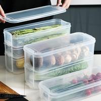 1/2/3 Layer Refrigerator Food Storage Box With Lid Transparent Fresh-keeping Container Kitchen Fridge Cabinet Freezer Organizer