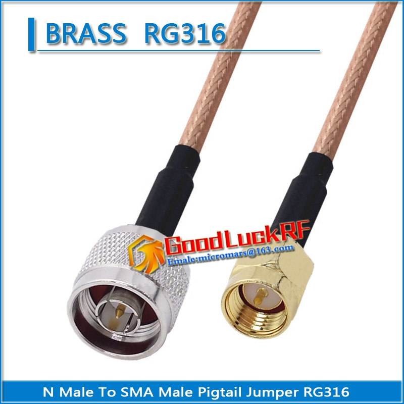 1x pcs q9 bnc male to rp sma male plug pigtail jumper rg316 extend cable rf connector q9 to rp sma rpsma dual male low loss 1X Pcs High-quality N Male to SMA Male Coaxial Type Pigtail Jumper RG316 Cable SMA to N Low Loss
