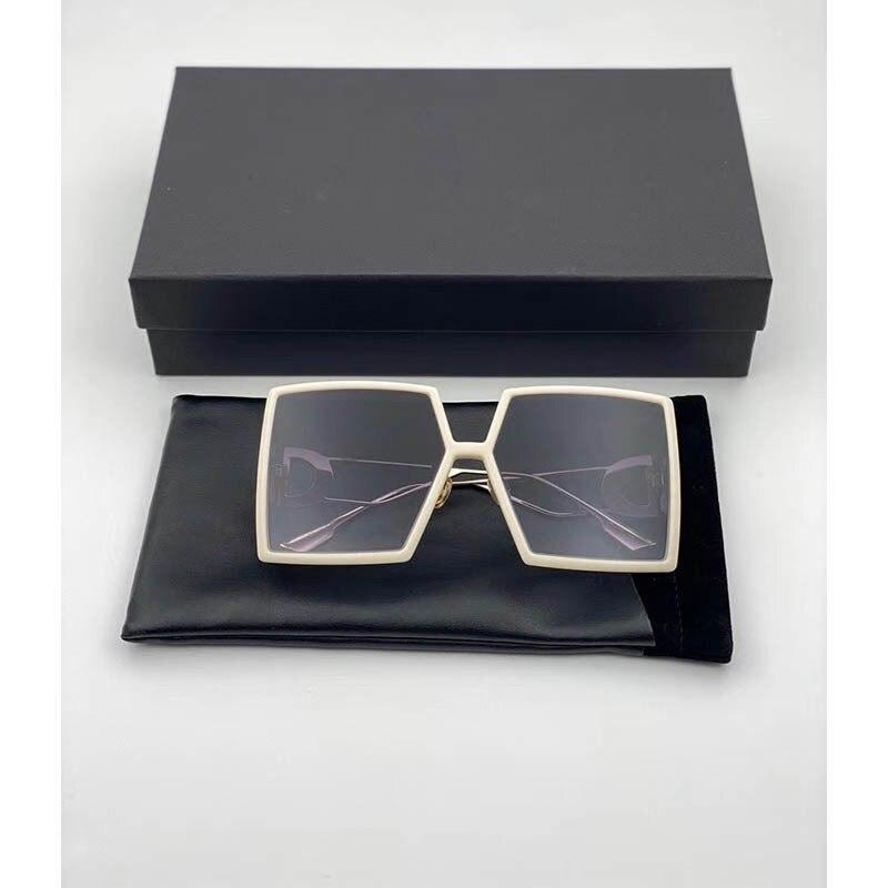Ladies Women Sunglasses Big Square Frame Sunglasses Elegant Fashion Vacation Sunglasses Three Colors