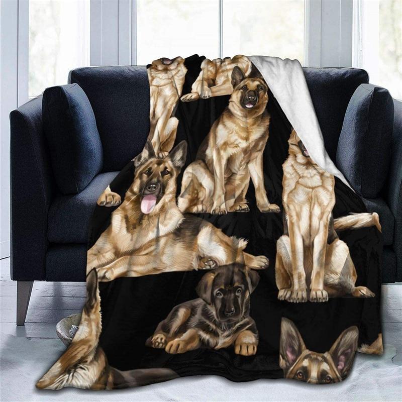 Mighty Dog قسط رمي بطانية ثلاثية الأبعاد طباعة على الطلب Sherpa سوبر مريحة ل أريكة رقيقة لحاف تكييف الهواء السفر
