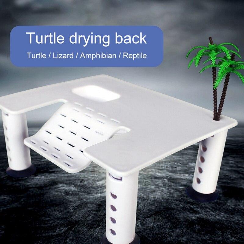 Plataforma de calentamiento flotante de tortuga con 4 ventosas muelle de Terrapin rampa de reptil muelle con escalera accesorio de tanque de acuario