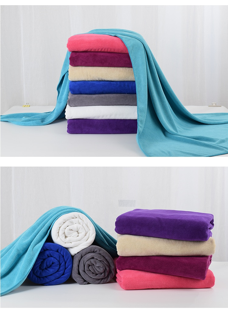 Drop Shipping Large Beach towels Microfiber Bath Towel Yoga Mat Compact Travel Sports Camping Swimming 1*2m