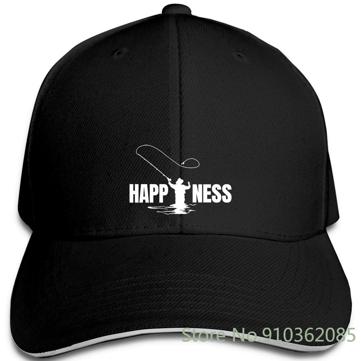 Mouche pêcheur à la ligne pêcheur bonheur marque coupe mince pour casquettes réglables casquette de Baseball hommes femmes