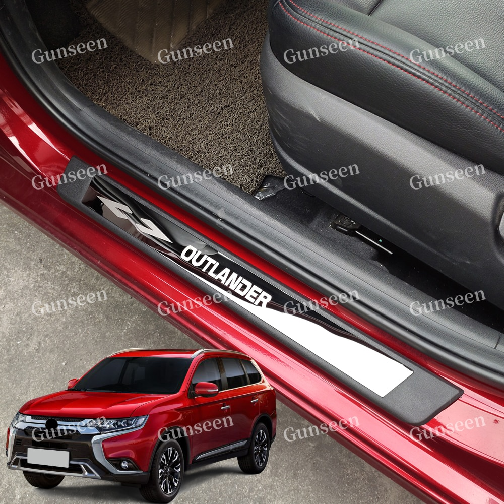 for ford kuga 2013 2014 2015 2016 door sill scuff plate cover sticker anti scratch welcome pedal protect car styling accessories For Mitsubishi Outlander Accessories Door Sill Pedal Protector 2016 Car Scuff Plate Styling Sticker 2013 2017 2018 2019 2020