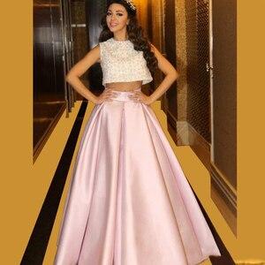 SoDigne Prom Dresses 2020 Elegant Two Piece Formal Evening Gowns Sequin Glitter Party Dresses vestidos de gala