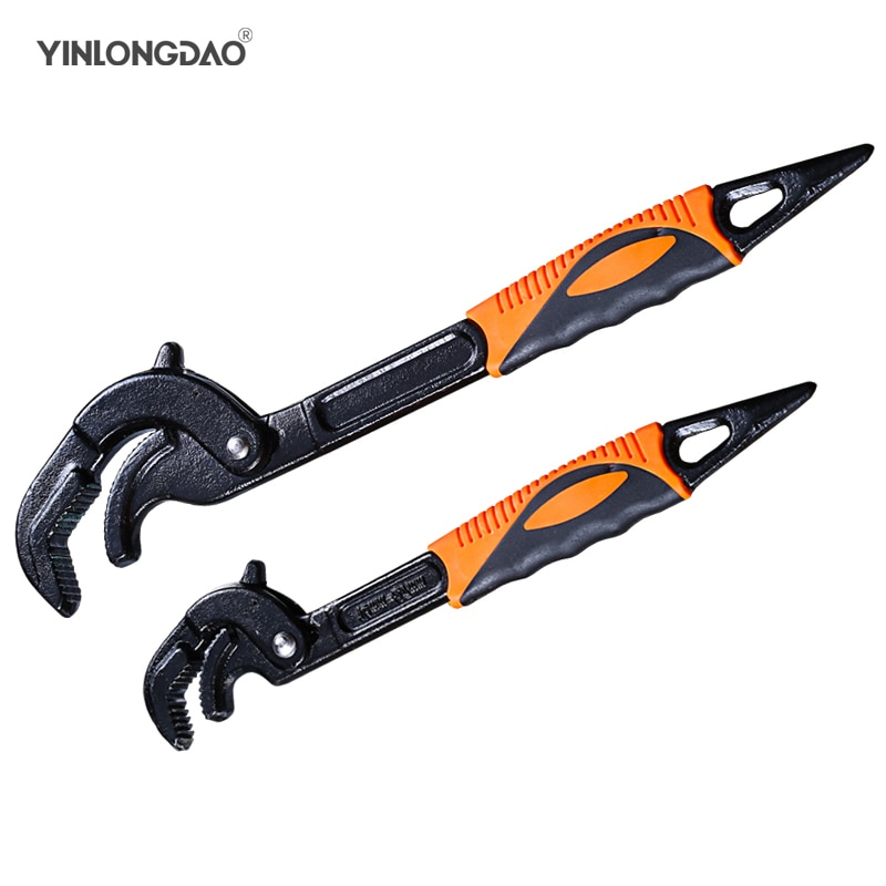 14-30 / 30-60mm llave universal para tubos juego de llaves de extremo abierto herramienta de acero de alto carbono snap-n-grip herramienta de mano múltiple para plomero