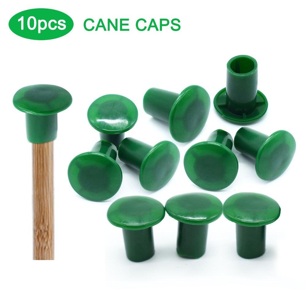10 Uds. Protectores de bastones de bambú para exteriores, para jardín, para senderismo multiusos, senderismo, senderismo, Pole Tips, tapa de repuesto, cubierta de bastones de PVC