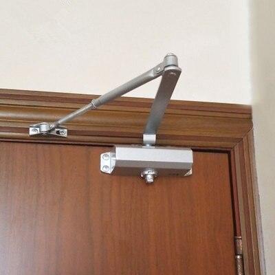 Fermeture de porte automatique en Aluminium, système de sécurité, vitesse de fermeture/verrouillage réglable pour portes gauches et droites, 25-45Kg et 900M