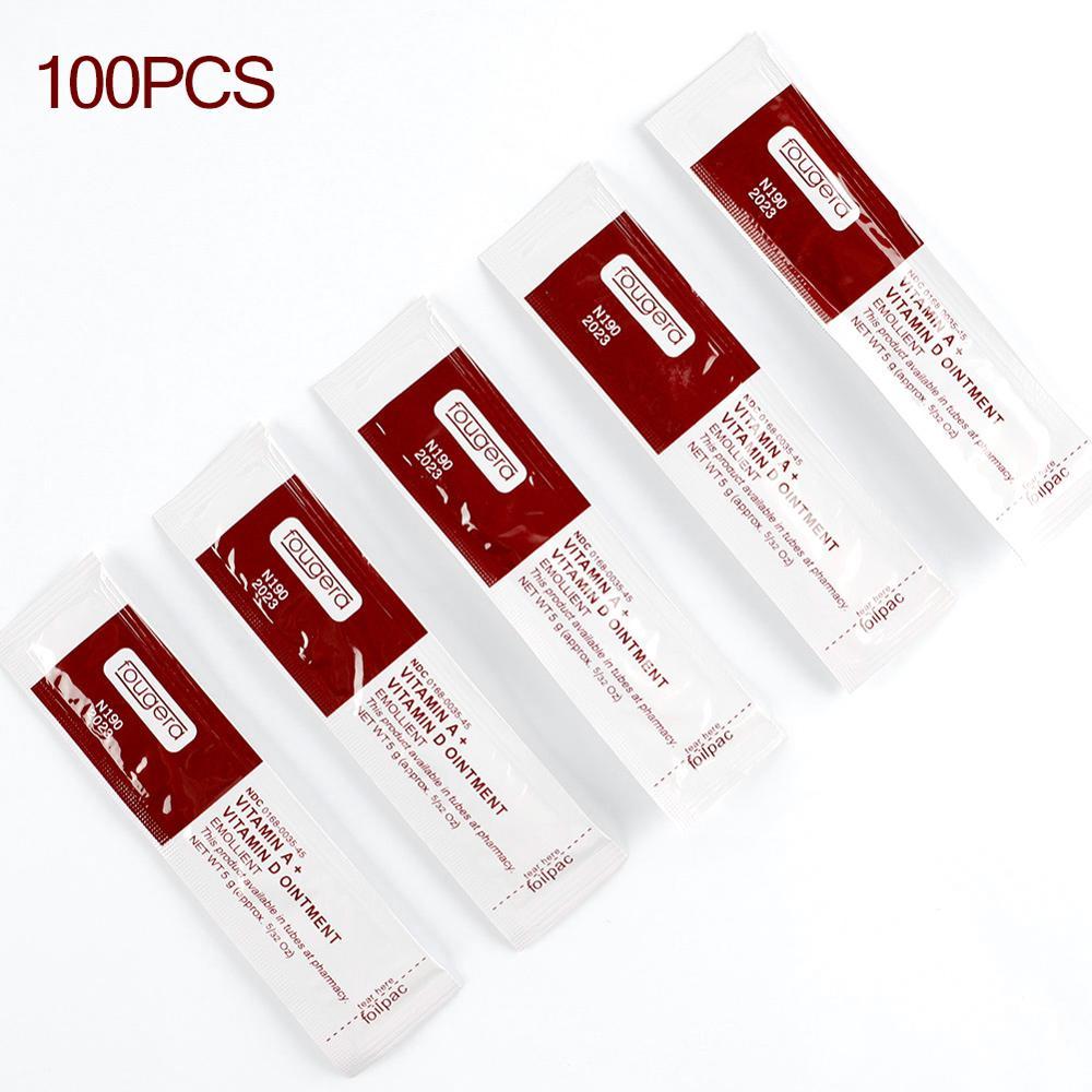 100Pcs/lot Tattoo Aftercare Cream Care Lotion Anti Scar Vitamin Ointment For Tattoo Body Art Permane