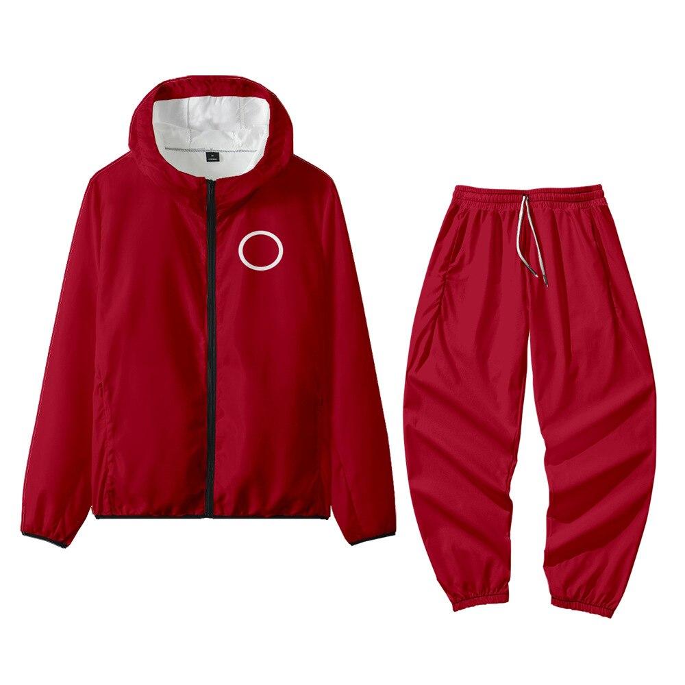 Куртка для косплея по мотивам игры кальмар, хлопковая флисовая ткань, Повседневная Уличная одежда, пуловеры, толстовки, мужской костюм, нови...