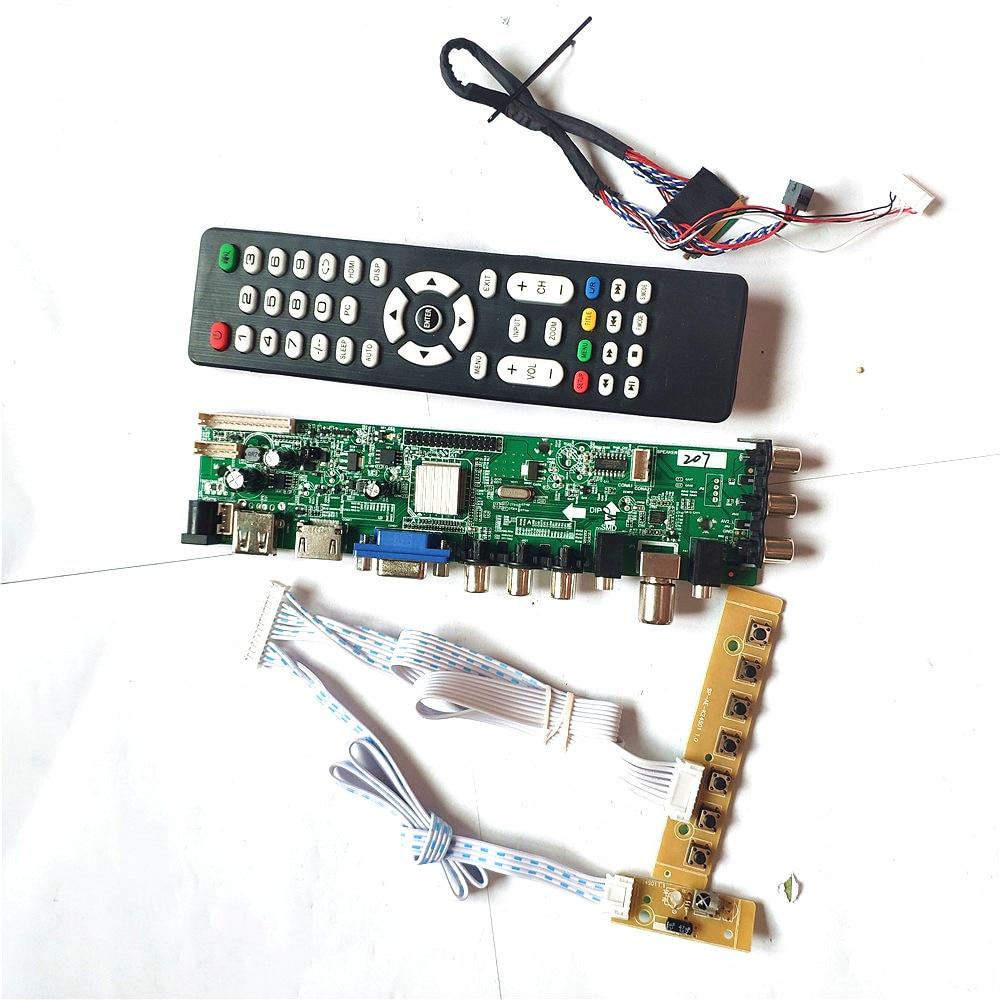 Ajuste LP140WH2-TLTA/tltb/tlq1/tlq2 40 pinos lvds 3663 tv tela digital 1366*768 atualização av hdmi-compatível vga usb dvb lcd placa
