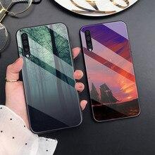 Caso Cat Para Samsung A50 A70 A20 A40 A51 A71 A20E S10 S20 S9 S8 S7 Borda Ultra Puls Nota 10 9 8 Plus Phone Cases Tampa de Vidro Do Mar