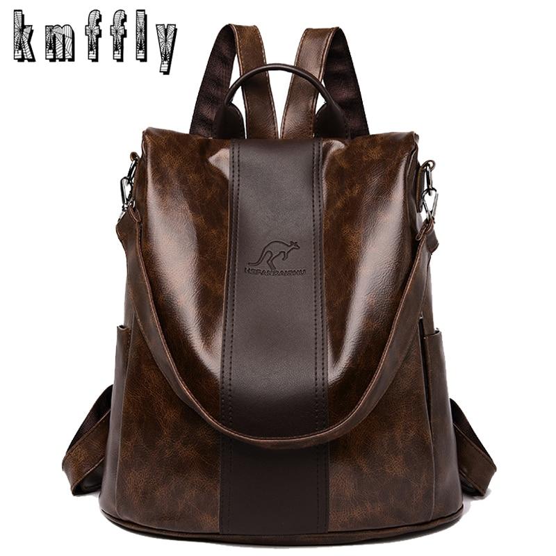 2020 High Quality PU Leather Backpacks Women Fashion Shoulder Bags High Capacity Travel Backpack School Bags Mochila Feminina