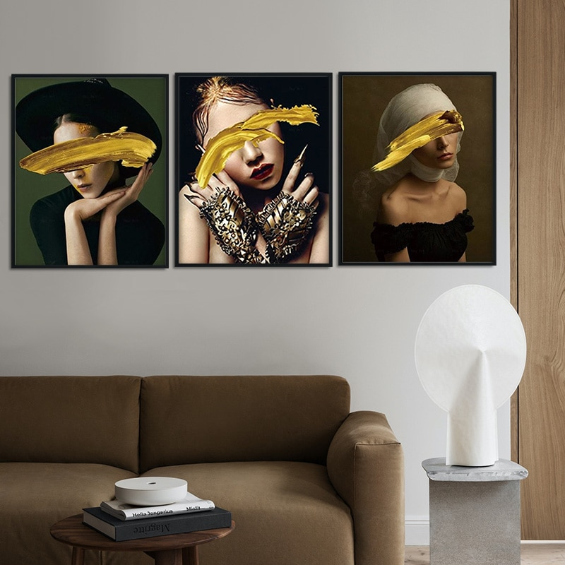 Estampado Floral nórdico sexi para mujer, lienzo abstracto, pintura de acuarela, Arte Floral de pared, póster, imágenes de pared para decoración para sala de estar