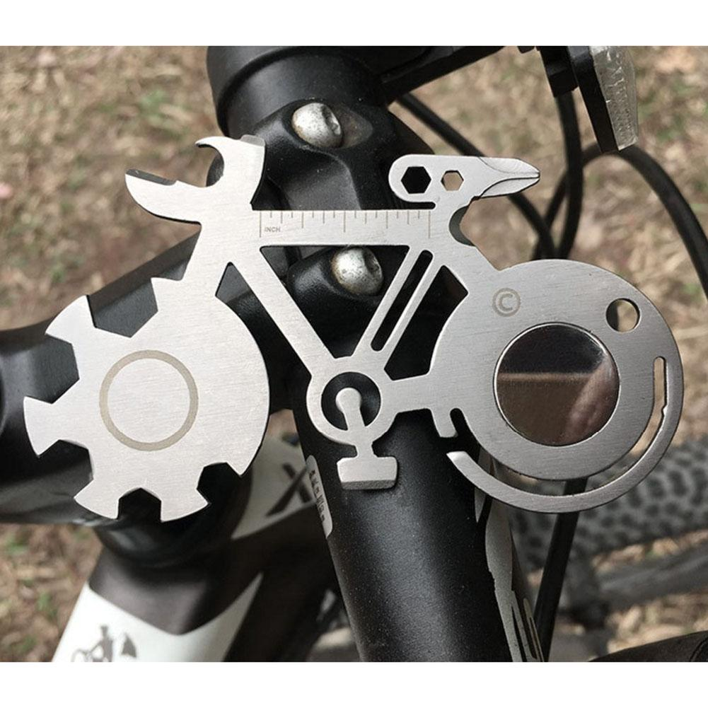 Bike Tool Card Cycling Shaped Repair Tools 4/5/6/7/8.5cm Multi-purpose Bicycle Repair Wrench with opener and keyhole