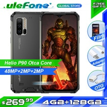 Ulefone Rüstung 7E IP68 Robuste Smartphone 4GB + 128GB Wasserdichte Handy Android 9,0 Octa-core NFC 48MP AI Kamera Wireless