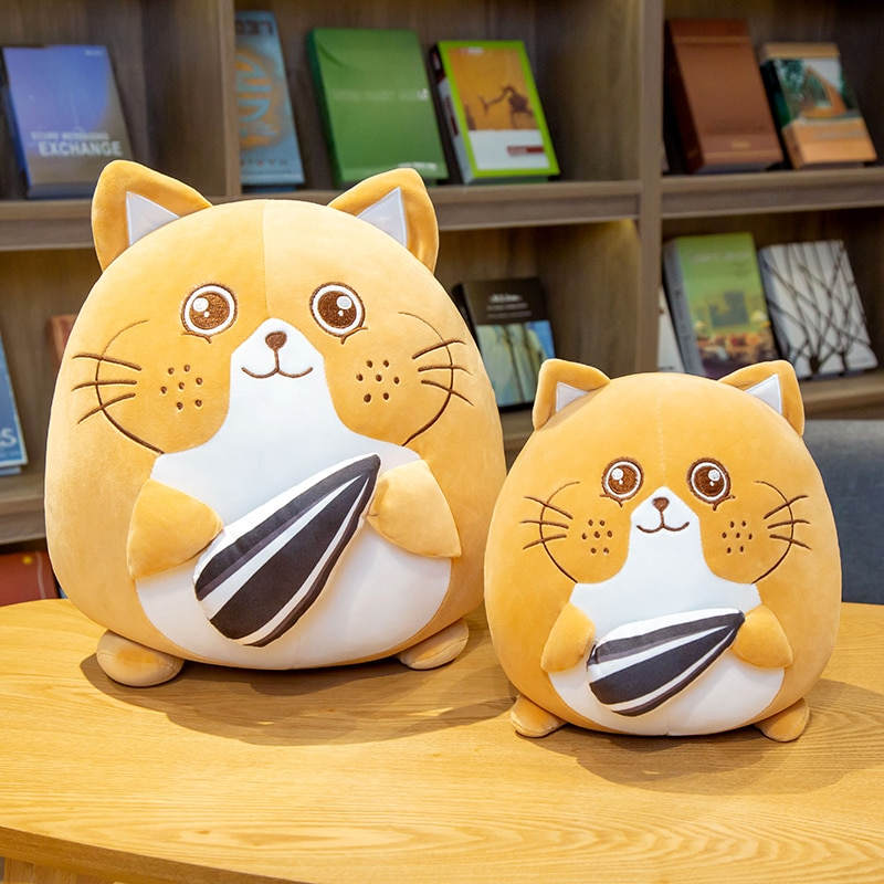 Sexy Huggable Hot 1pc 25cm/40cm Soft stuffed plush Fat Round Hamster Doll decoration sofa pillow children boy holiday gift toys  - buy with discount
