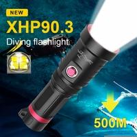 Новые самых профессии XHP90.3 вспышка для подводного погружения и светильник 18650 высокое Мощность светодиодный фонарь светильник подводный IP68...