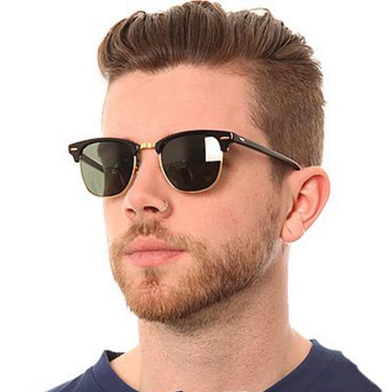 Classic Semi-Rimless Polarized Sunglasses 2020 Men's Women Square Sun glasses Men Oculos De Sol Gafa