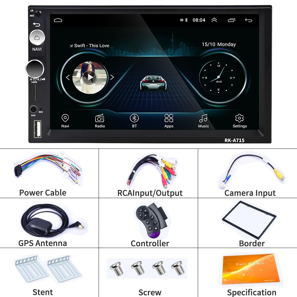 Podofo 2 din Android Car Multimedia Player Universal Car Radio 2din GPS Autoradio For Volkswagen Nissan Hyundai Kia toyota CR-V