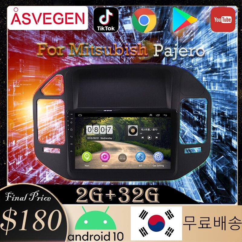Автомобильные мультимедийные плееры Android 10,0, автомобильный умный GPS-навигатор для Mitsubishi Pajero V73, радио, Bluetooth, автомобильный стерео-навигатор