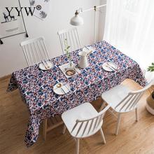جميع الأحجام مفرش مائدة مطبوع مفرش طاولة غطاء مفارش المائدة مستطيلة في النسيج ديكور للطاولات النفط القماش على الطاولة Manteles