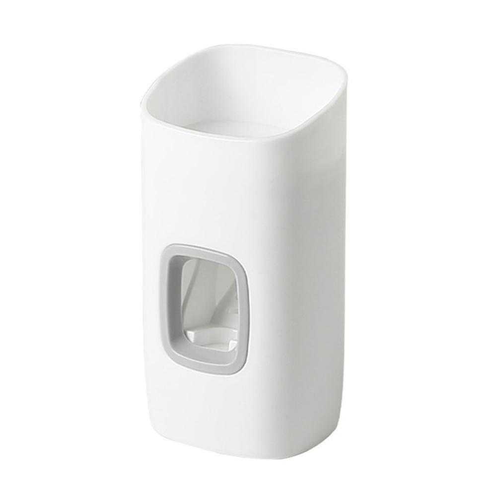 Настенный автоматический диспенсер для зубной пасты для ванной диспенсер для выдавливания для ванной комнаты Набор Зубная щётка аксессуар...