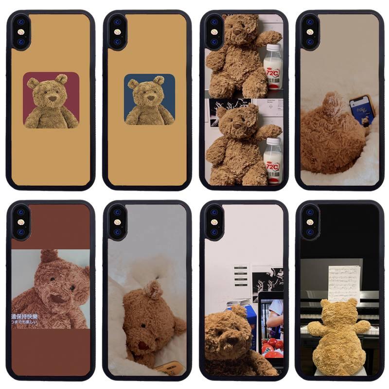 Fundas de teléfono con diseño de oso, para Samsung S7 Edge S8...