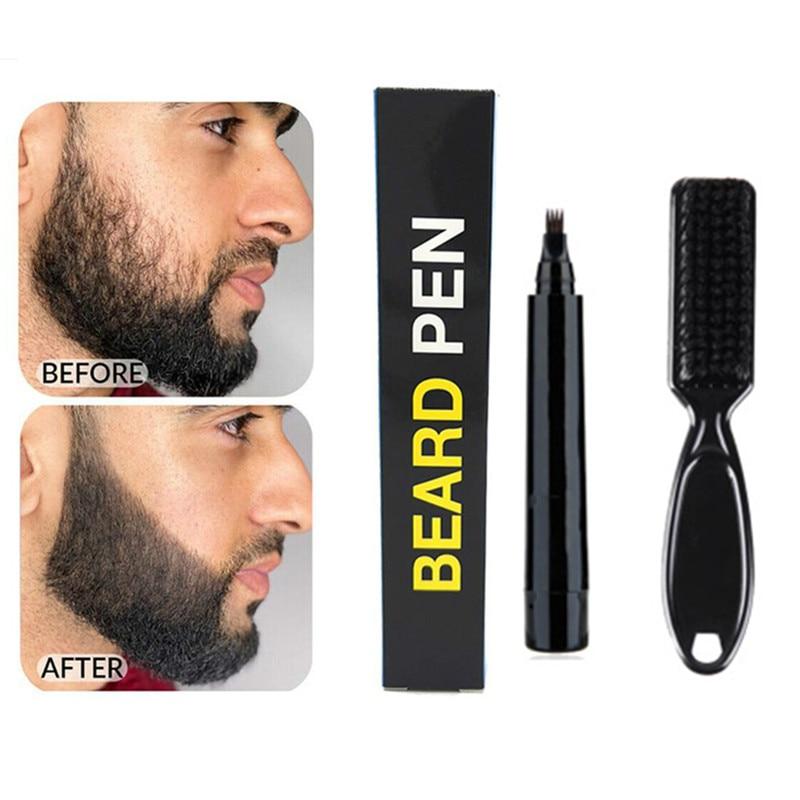 new  Men Beard Growth Pen Facial Hair Sideburn Mustache Repair Shape Regrowth Pen Beard Enhancer Nou