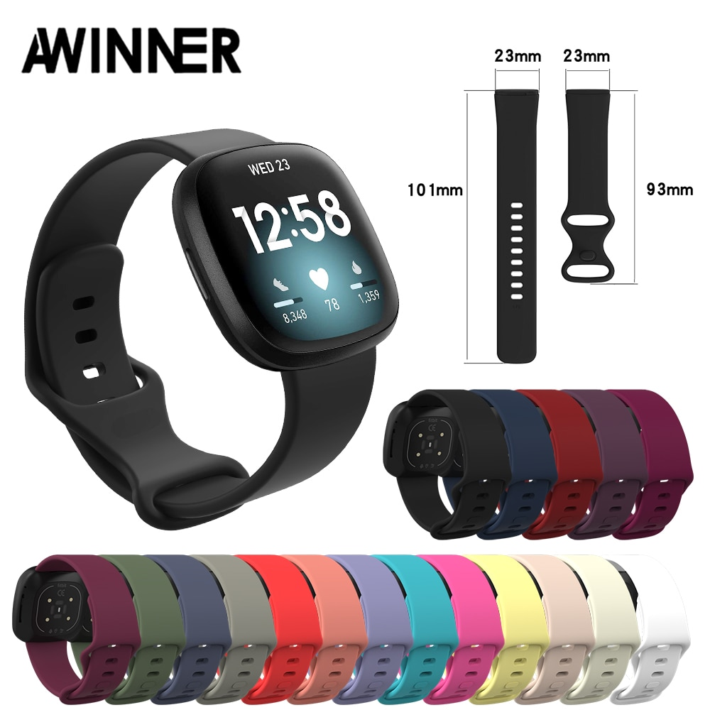 floral printed strap for fitbit versa band silicone flower bracelet fitbit versa replacement bands bracelet wristband watchbands Accessories Band For Fitbit Versa 3 Strap Soft Silicone Wrist Waterproof Replacement Band For Fitbit Versa Sense Strap Bracelet