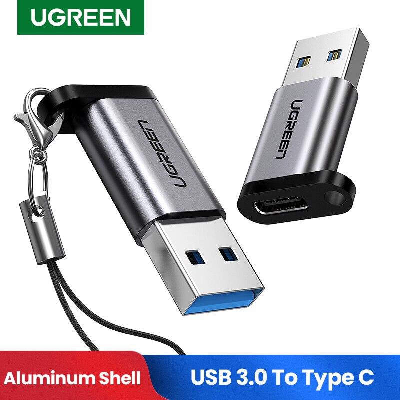 Ugreen USB C Adapter USB 3,0 2,0 Männlichen zu USB 3,1 Typ C Weibliche Typ-C Adapter für Laptop samsung Xiaomi 10 Kopfhörer USB Adapter