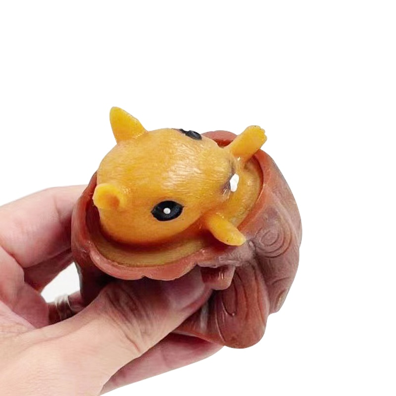 Kawaii Squirrel Toys Squeeze Decompression Funny Tree Stump Cartoon Animal Fidget toys Pop It Interesting Adult Kids Toys Gift enlarge