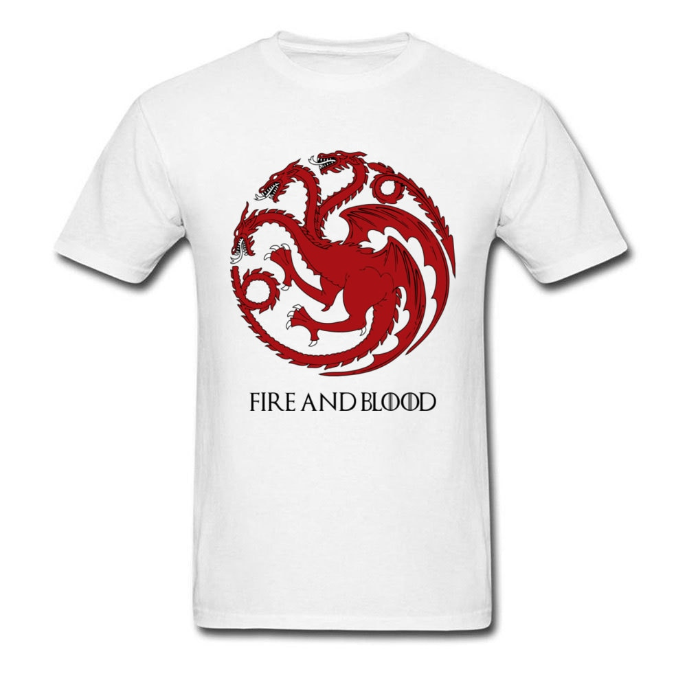 Camiseta de Juego de tronos para hombre de House Targaryen, camisetas con Logo de dragón para mujer, camisetas nuevas de moda 100% algodón para jóvenes, camisetas personalizadas