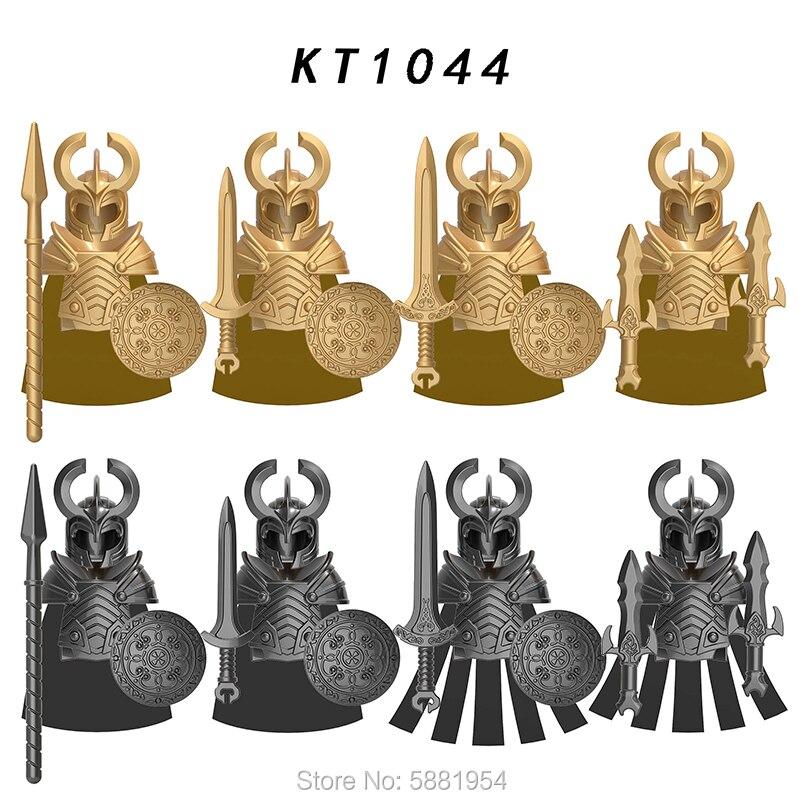 Koruit cavaleiro medieval asgard soldado armas figuras de ação acessórios armadura capacetes blocos construção brinquedos para crianças kt1044